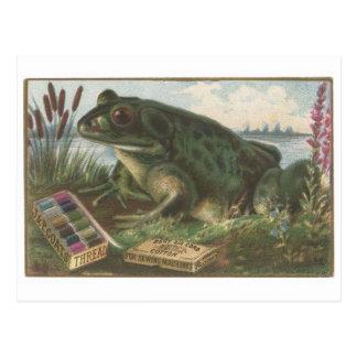 Coats Thread Frog Trading Card