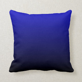 Cobalt Blue and Black Ombre Cushion