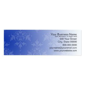 Cobalt Blue and White Damask Pack Of Skinny Business Cards