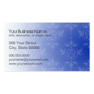 Cobalt Blue and White Damask Pack Of Standard Business Cards
