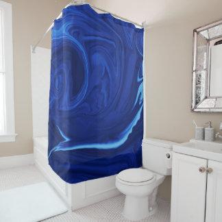 Cobalt blue background shower curtain