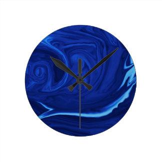 Cobalt blue background Textured Handmade Clock
