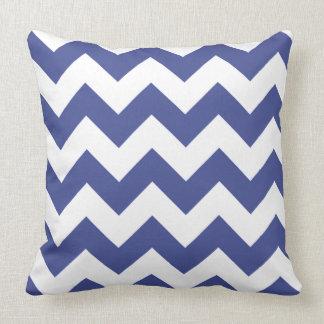 Cobalt Blue Chevron Pattern Cushion