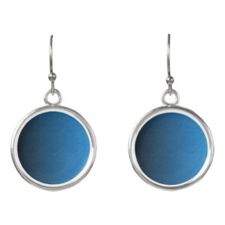 Cobalt Blue Circle Drop Earrings