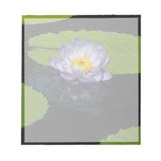 Cobalt Blue Lotus Waterlily Flower Notepad