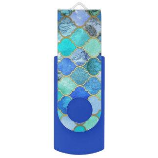 cobalt blue mermaid shells usb flash drive