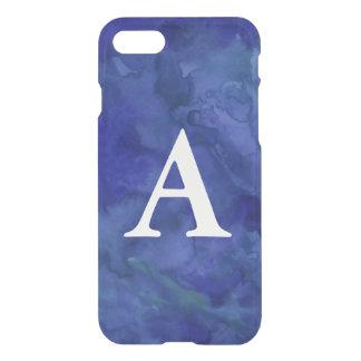 Cobalt Blue Monogram Watercolor iPhone 7 Case