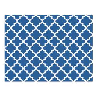 Cobalt Blue Moroccan Tile Trellis Postcard