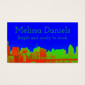 Cobalt Blue NYC Skyline Business Cards