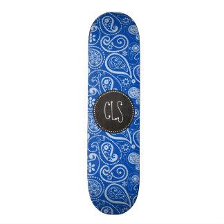 Cobalt Blue Paisley; Vintage Chalkboard Skateboards