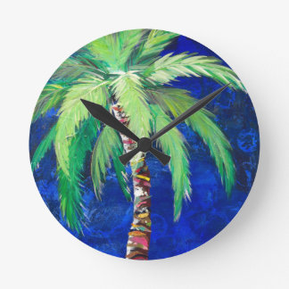Cobalt Blue Palm II Clock
