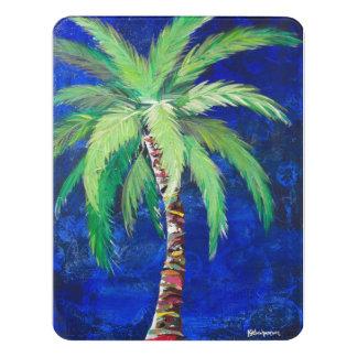 Cobalt Blue Palm Tree Door Sign