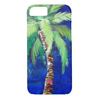 Cobalt Blue Palm Tree phone case