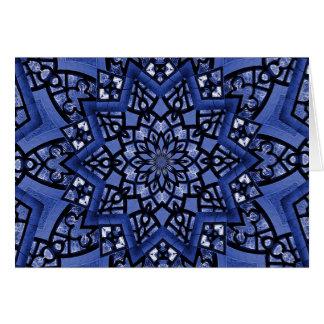 Cobalt blue pattern card