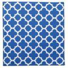 Cobalt Blue Quatrefoil Trellis Pattern Napkin