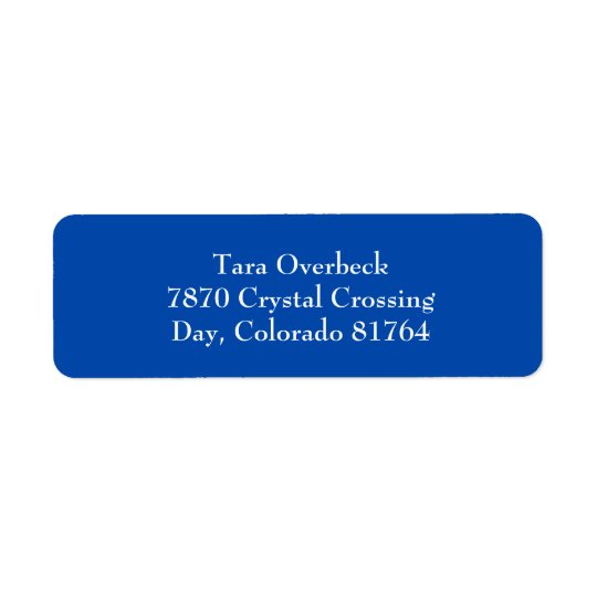 Cobalt Blue Simple Plain Return Address Labels