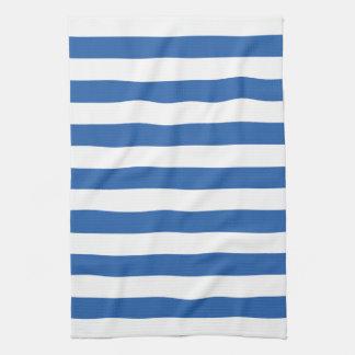 Cobalt Blue Stripes Pattern Kitchen Towels