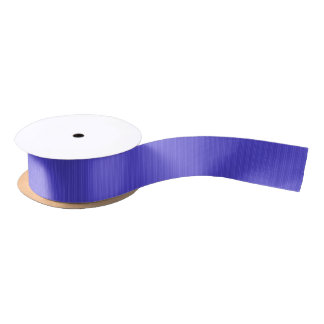 Cobalt Blue Vertical Stripes Satin Ribbon