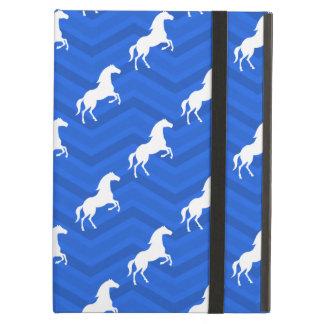 Cobalt Blue, White Horse, Equestrian, Chevron iPad Air Covers