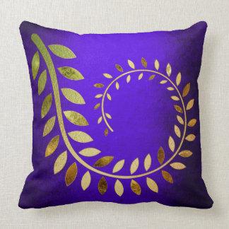 Cobalt BlueAutumn Fall Felice Leave Throw Pillow