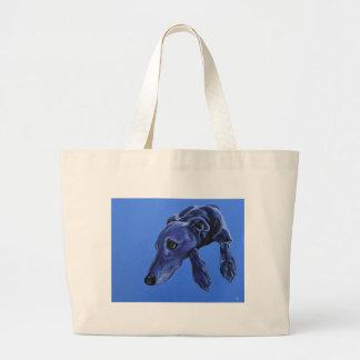 'Cobalt daydream' - blue lurcher tote bag