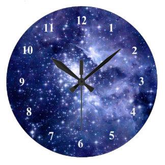 Cobalt Dreams Stars Galaxies Space Universe Clock