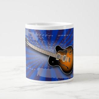 Cobalt Grunge Burst Guitar Specialty Mug Jumbo Mug
