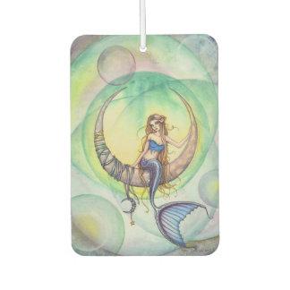 Cobalt Moon Mermaid Fantasy Art Illustration Car Air Freshener