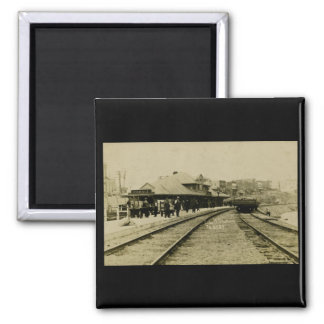 Cobalt Rail Station, Cobalt, Ontario Square Magnet