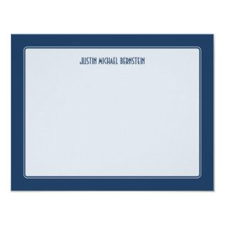 Cobalt Simple Note Card