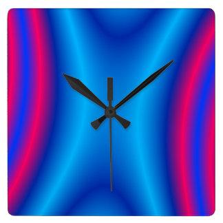 Cobalt Square Wall Clock