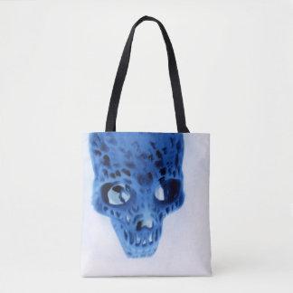 Cobalt Vertex Tote Bag by Artist C.L. Brown
