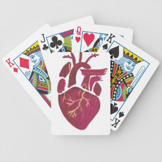 Cobalt Violet Heart Bicycle Playing Cards