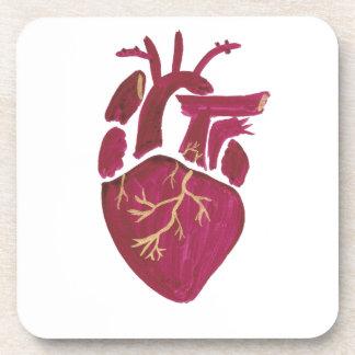 Cobalt Violet Heart Coaster