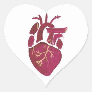 Cobalt Violet Heart Heart Sticker