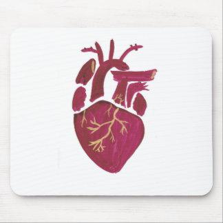 Cobalt Violet Heart Mouse Pad