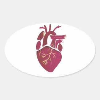 Cobalt Violet Heart Oval Sticker