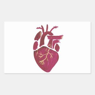 Cobalt Violet Heart Rectangular Sticker