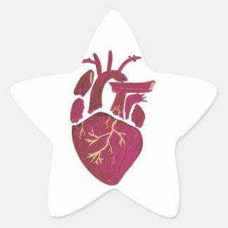 Cobalt Violet Heart Star Sticker