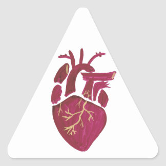 Cobalt Violet Heart Triangle Sticker