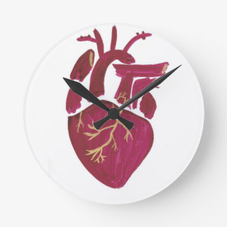 Cobalt Violet Heart Wall Clock
