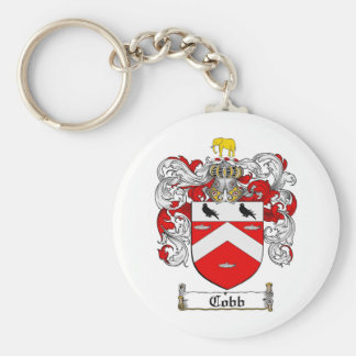 COBB FAMILY CREST -  COBB COAT OF ARMS BASIC ROUND BUTTON KEY RING