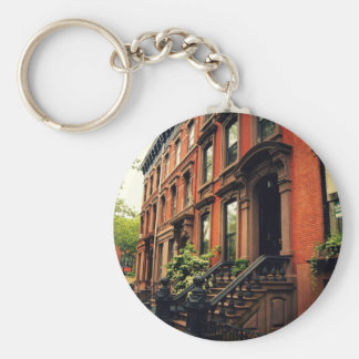 Cobble Hill Brownstone Basic Round Button Key Ring