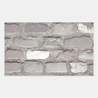 cobble stones rectangular sticker