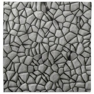 Cobble stones surface napkin