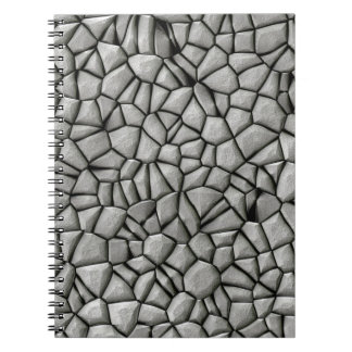 Cobble stones surface note book