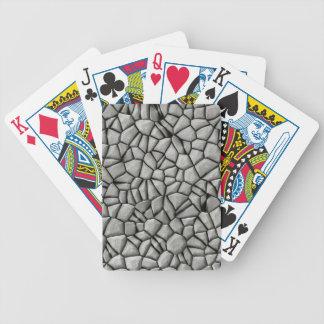 Cobble stones surface poker deck