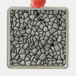 Cobble stones surface Silver-Colored square decoration