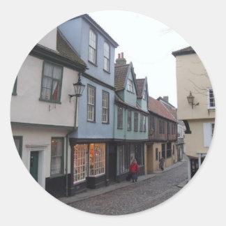 Cobbled Street Classic Round Sticker