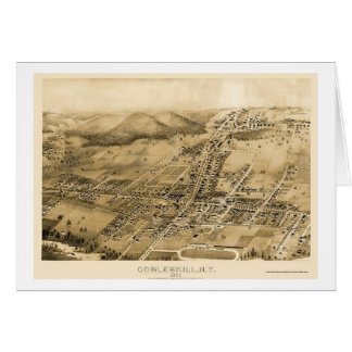 Cobbleskill, NY Panoramic Map - 1883 Card